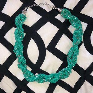 Teal rope necklace GUC